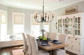 Fixer Upper Kitchen Window Treatments Style At Dining Roman Shades