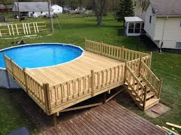 Swimming Pool Deck Design Stunning 40 Uniquely Awesome Above Ground Pools With Decks 19