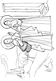 The Visitation Coloring Page