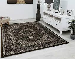 wohnzimmer teppich braun klassisch orient muster hohe