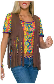 amazon com forum novelties women u0027s 60 u0027s hippie vest costume