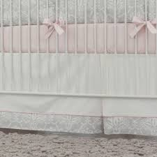 Box Pleat Bed Skirt by Pink And Gray Damask Crib Skirt Box Pleat Carousel Designs