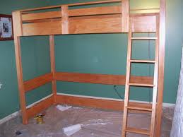 awesome a loft bed 146 plans to build a loft bed with desk canwood