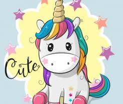 Cartoon Cute Unicorns Vectors Design 08