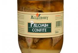 cuisiner palombe confite