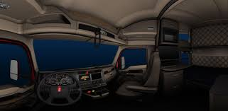 100 Kenworth Show Trucks KENWORTH T680 TRUCK INTERIOR For ATS GAME American Truck Simulator