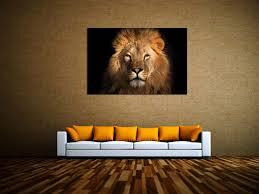 dekoration löwe könig der tiere leinwandbilder auf