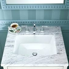 Kohler Verticyl Sink Drain by Kohler Verticyl White Undermount Rectangular Bathroom Sink With