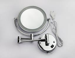 modern design bathroom with wall mount magnifying mirror and 8