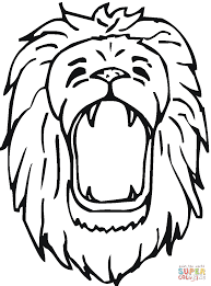 Click The Lion Roars Coloring Pages To View Printable