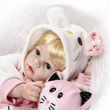 Npk 23inch Reborn Baby Doll Pink Girl Dressing Toy Gold Hair Play