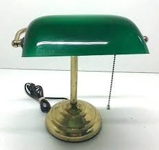 Green Bankers Lamp Shade Replacement by Antique Desk Lamp Green Glass Shade Desk Bankers Desk Lamp Green