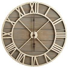 Creative Ideas Large Rustic Wall Clock Clocks Decorative Oversized