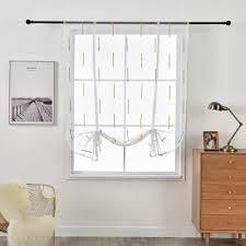 großhandel european white römische tüll vorhänge für wohnzimmer elegante fenstersiebung kurz küche vorhang mit rod design wohnkultur jarlhome