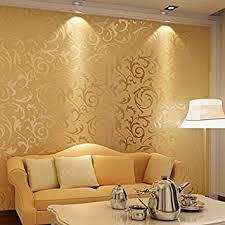 3d optik vliestapete barock ornament wandtapete wand tapete mit ornamenten für wohnzimmer schlafzimmer 10m x 0 53m golden