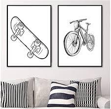 zhangpengbofbh roller mountainbike wandkunst leinwand