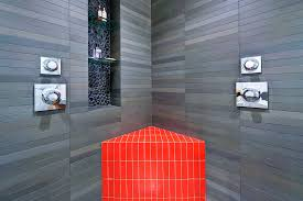tile shower ideas spaces modern with horizontal tile bright colors