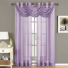 Brylane Home Sheer Curtains by Amazon Com Abri Mauve Grommet Crushed Sheer Curtain Panel 50x84