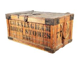 Shipping Crate With Metal Accents And Shipper