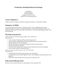 Examples Resumes Sample Resume Warehouse Job Production Worker Objective