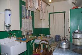 1940s A Kitchen In The Castle Museum York Shows How Washing And Cooking