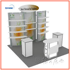 3x3 Exhibition Stand Aluminum Booth Design And Construction Exhibit Display Trade Show