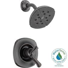Delta Lahara Faucet Champagne Bronze by Delta Lahara 1 Handle Tub And Shower Faucet Trim Kit In Venetian