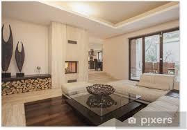 poster travertin haus beige wohnzimmer