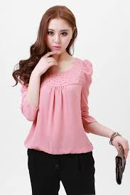 Women Pink Crystal Blouse Lovely Shirt Korea Princess Ladies Fashion Many Color