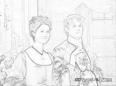 Jamie And Claire At A Party In France Outlander Season Coloring Pages The Un Official Book 2015 Holiday Edition