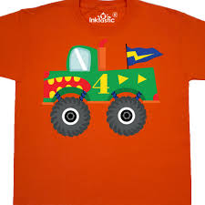100 Monster Truck T Shirts Inktastic 4th Birthday Youth Shirt Fourth Urning 4