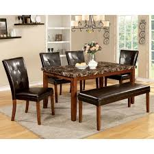 Furniture Of America Hughfort 6 Piece Antique Oak Dining Set