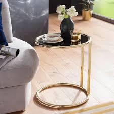 finebuy couchtisch suva13946 1 design couchtisch ø 45 cm rund glas lounge beistelltisch verspiegelt moderner wohnzimmertisch glastisch sofatisch