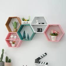 schwimmende regal wohnzimmer wand montiert geometrische punch freies wand dekoration bad wand regal wandbild dekorative rahmen wohnzimmer