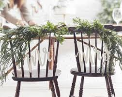 Wooden Mr Mrs Chair Signs Wedding Decor Table Boho