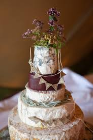Cheese Tower Stack Cake Bunting Flowers Rustic Outdoor Rural Tipi Wedding Emmastonerweddings