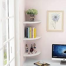 eckregal 3 stück schwebendes wandregal bücherregale für schlafzimmer wohnzimmer heimmöbel weiß