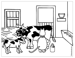 Coloring Book Cow And Donkey Coloriage Vache Et Ane Anglais