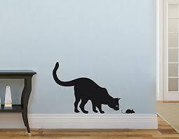 wandaufkleber katze 30cm maus 6cm kinderzimmer deko wohnzimmer wandtattoo