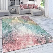 paco home wohnzimmer teppich moderner kurzflor in pastell farben vintage galaxy muster grösse 160x230 cm farbe mehrfarbig
