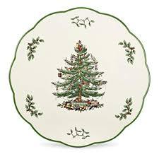 Spode Christmas Tree Cheese Plate Or Trivet