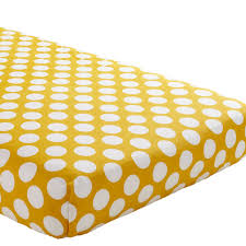 Yellow Dotted Swiss Curtains by Organic Make A Splash Blue And White Dot Crib Fitted Sheet The