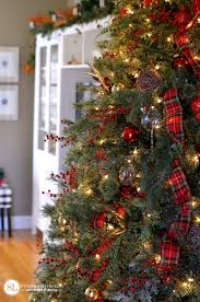 Red Plaid And Gold Christmas Tree Michaelsmakers