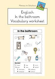 in the bathroom worksheet unterrichtsmaterial im fach