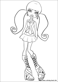 Monster High Free Coloring Pages 20 On