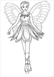 Barbie Coloring Pages Mariposa