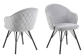 esszimmerstuhl mikki grau polsterstuhl wohnzimmer stuhl sessel küchenstuhl dynamic 24 de