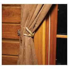 Antler Curtain Tie Backs by Antler Curtain Tiebacks 653 Buffalo Trader