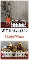 Halloween Cemetery Fence Diy by Graveyard Picket Fence Halloween Fence Table Decoration