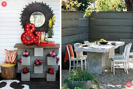 cinder block bench table and more 12 diy cinder block ideas
